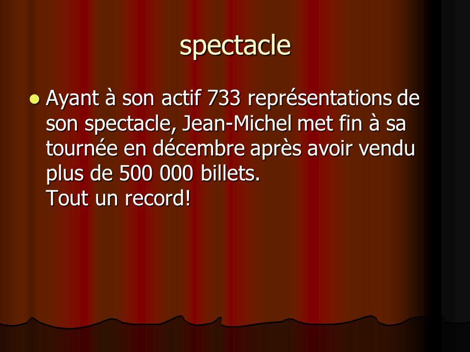 Commentaire du public  La fraîcheur et la spontanéité de ses monologues, son charme indéniable, son grand talent de comédien et son sens du «punch» f