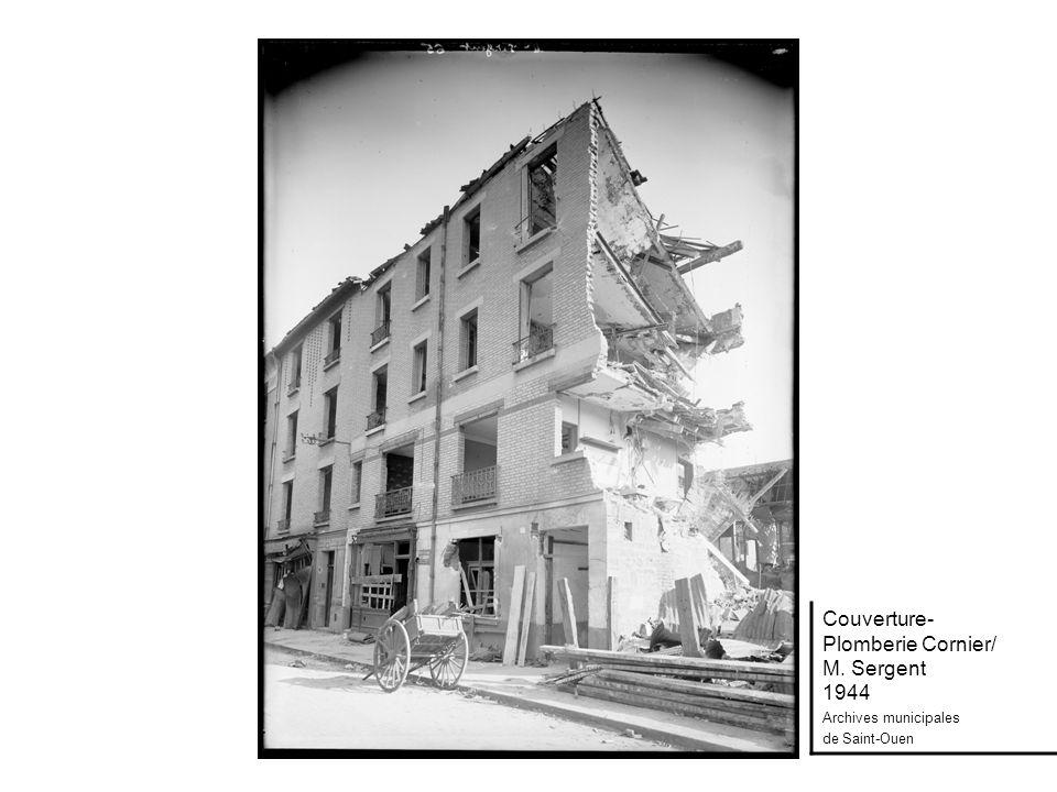 Couverture- Plomberie Cornier/ M. Sergent 1944 Archives municipales de Saint-Ouen