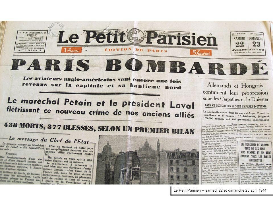 Le Petit Parisien – lundi 24 avril 1944