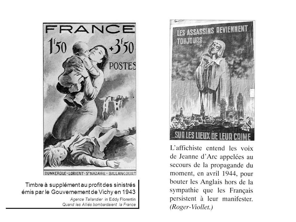 Timbre à supplément au profit des sinistrés émis par le Gouvernement de Vichy en 1943 Agence Tallandier in Eddy Florentin Quand les Alliés bombardaien