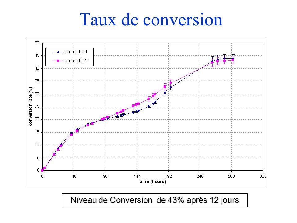 Taux de conversion Niveau de Conversion de 43% après 12 jours
