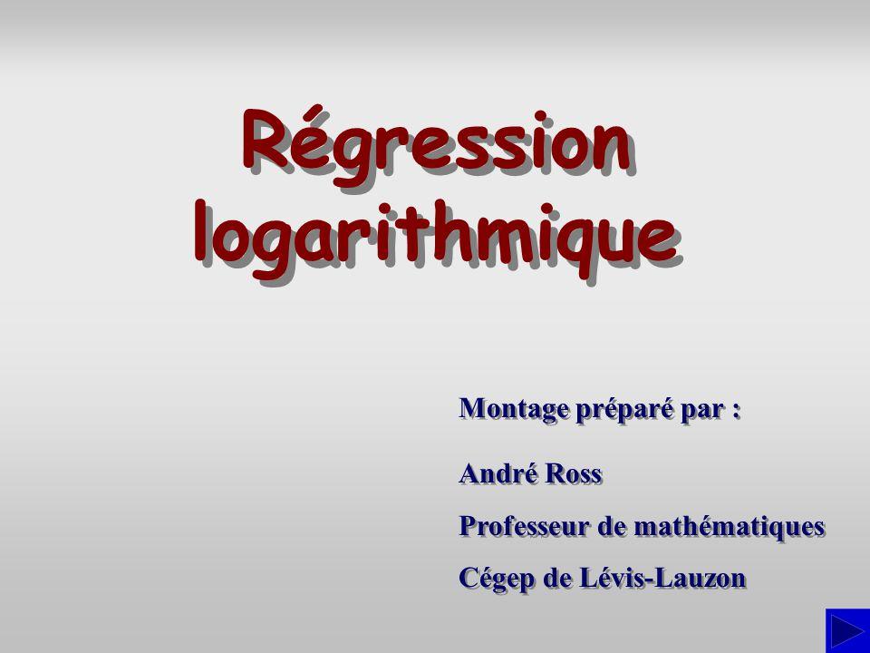 Montage préparé par : André Ross Professeur de mathématiques Cégep de Lévis-Lauzon André Ross Professeur de mathématiques Cégep de Lévis-Lauzon Régres