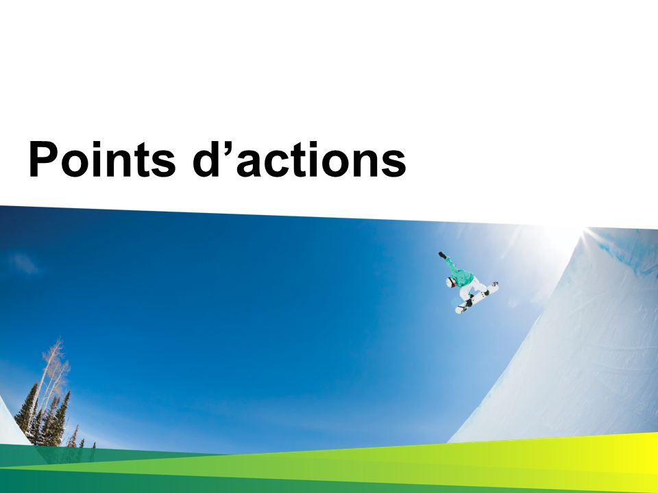 Points d'actions