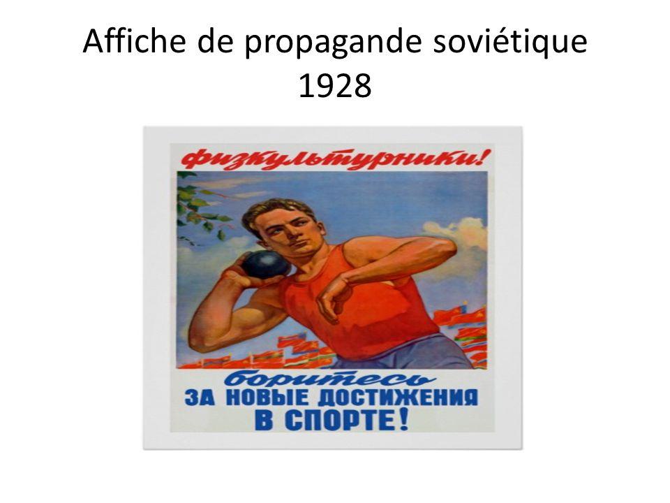 Affiche de propagande soviétique 1928