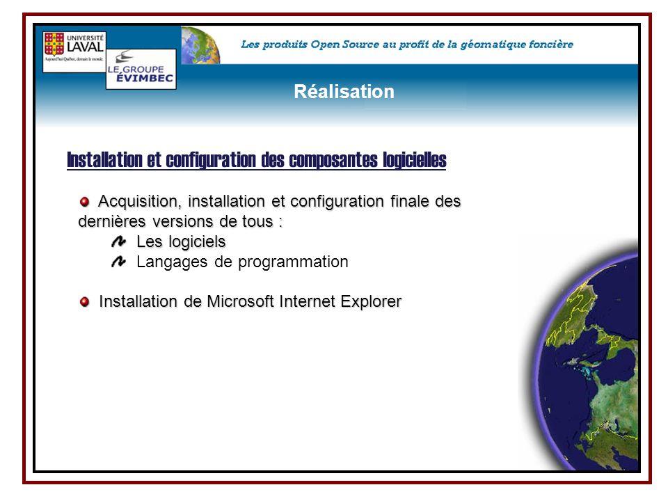 Acquisition, installation et configuration finale des dernières versions de tous : Acquisition, installation et configuration finale des dernières ver