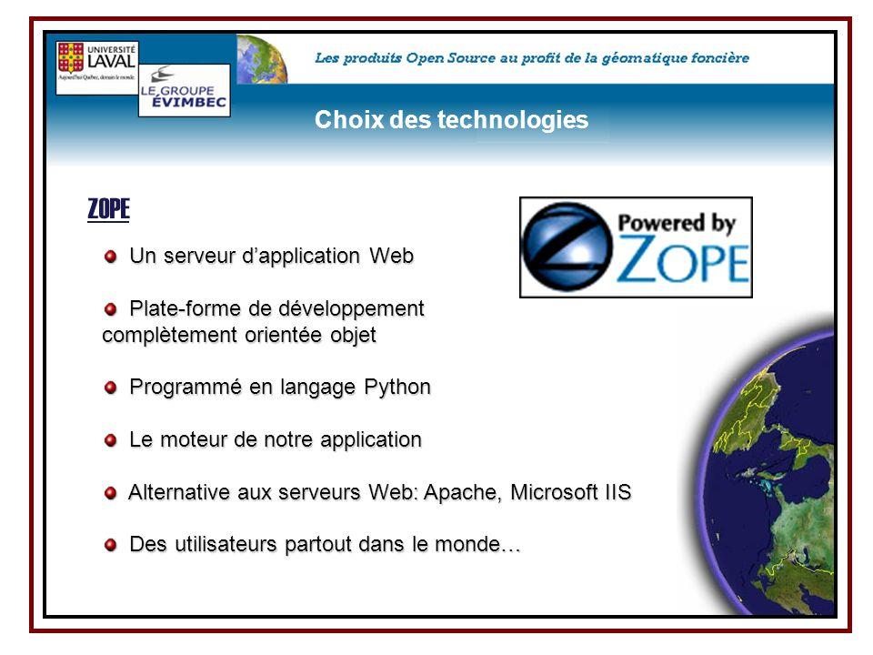 Un serveur d'application Web Un serveur d'application Web Plate-forme de développement Plate-forme de développement complètement orientée objet Progra