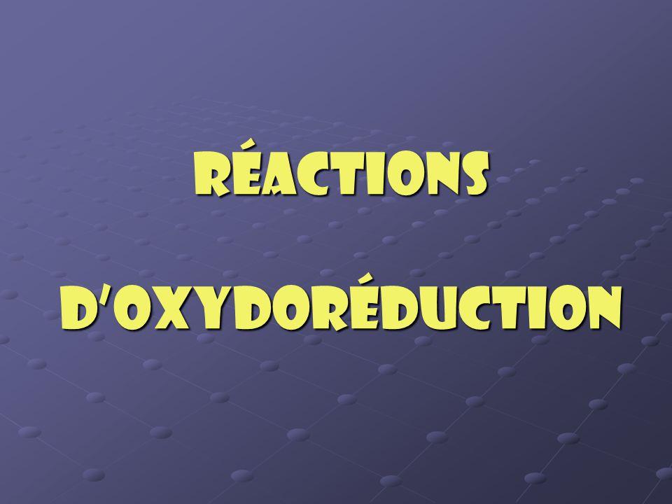 Qu'est-ce que l'oxydoréduction.Ce mot provient des mots oxydation et réduction.