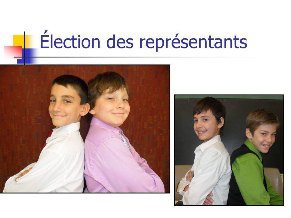 Élection des représentants
