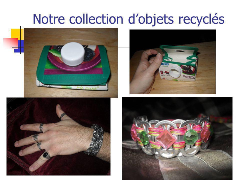 Notre collection d'objets recyclés