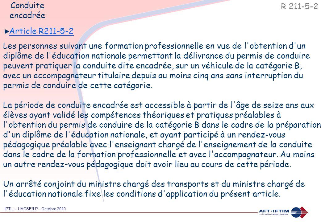 Article R211-5-2 Les personnes suivant une formation professionnelle en vue de l'obtention d'un diplôme de l'éducation nationale permettant la délivra