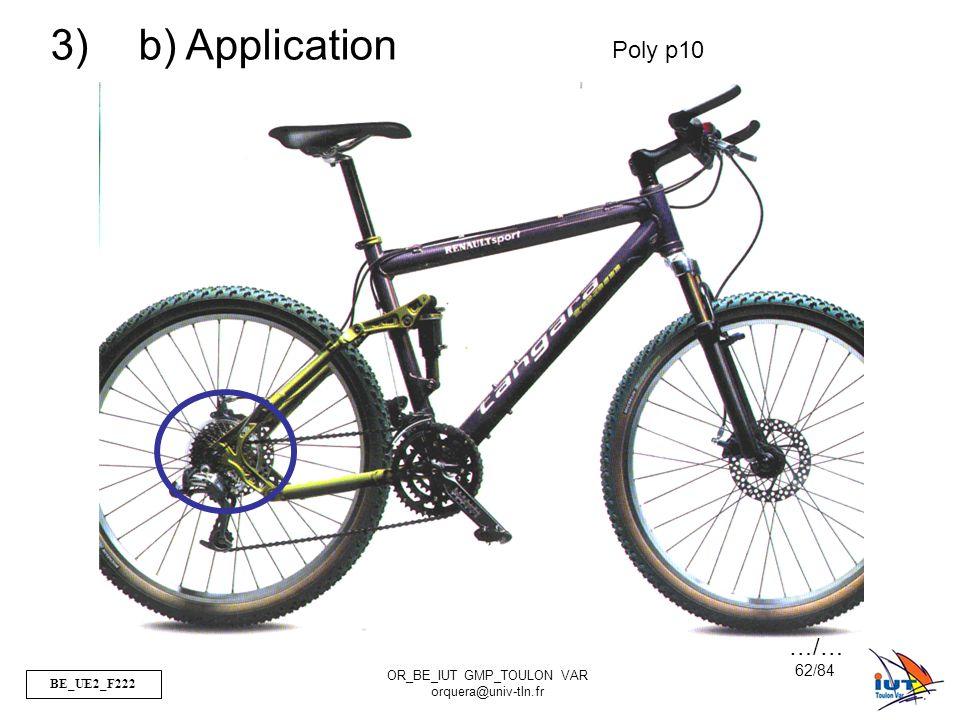 BE_UE2_F222 OR_BE_IUT GMP_TOULON VAR orquera@univ-tln.fr 62/84 3) b) Application Poly p10 …/…