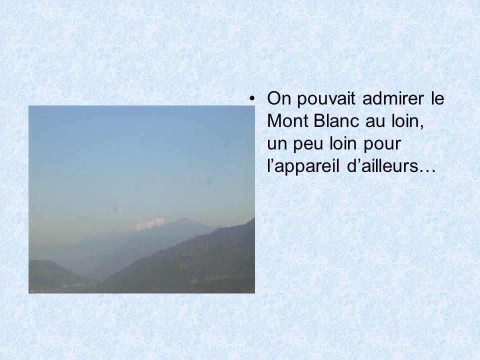 •On pouvait admirer le Mont Blanc au loin, un peu loin pour l'appareil d'ailleurs…