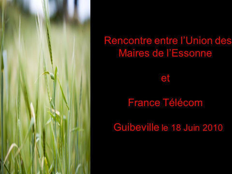 Rencontre entre l'Union des Maires de l'Essonne et France Télécom Guibeville le 18 Juin 2010