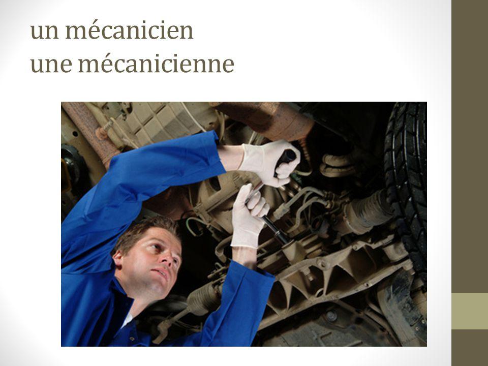 un mécanicien une mécanicienne