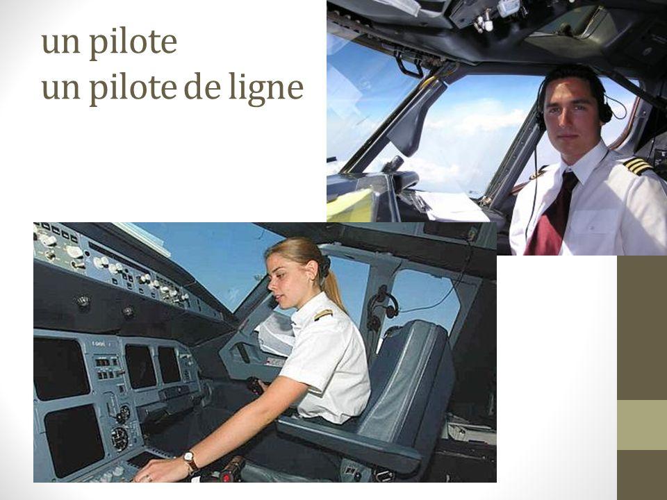 un pilote un pilote de ligne