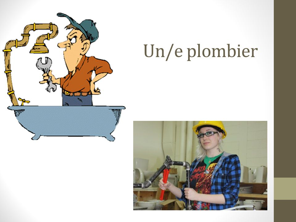 Un/e plombier