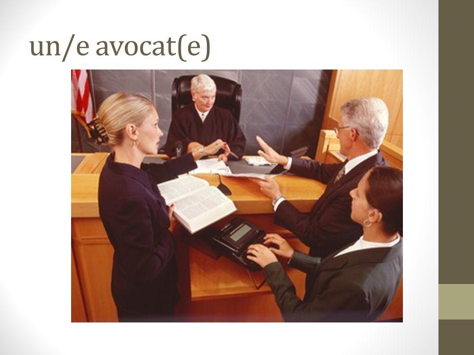 un/e avocat(e)