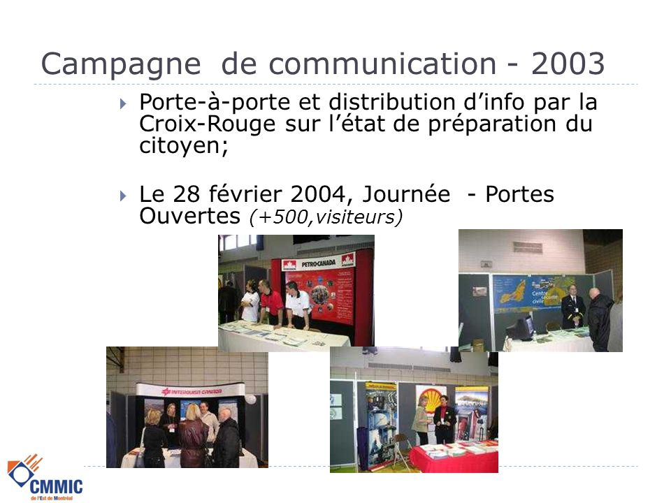 Campagne de communication - 2003