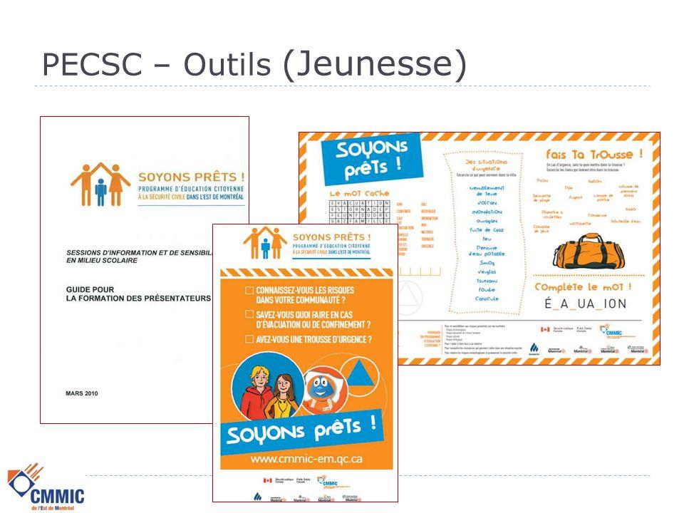 PECSC - Clientèle cible  Scolaire  Élèves du niveau primaire : 5 e et 6 e année,  Élèves du niveau secondaire : 2 e, 4 e et 5 e secondaire,  Étudiants adultes et formation professionnelle.