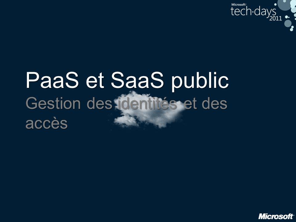 PaaS et SaaS public Gestion des identités et des accès