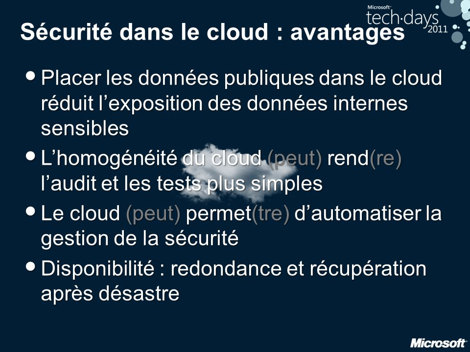 ENISA: Cloud Computing Risk Assessment European Network and Information Security Agency Novembre 2009 35 risques identifiés 4 catégories : 1.
