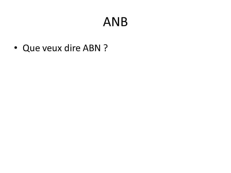 ANB • Que veux dire ABN ?