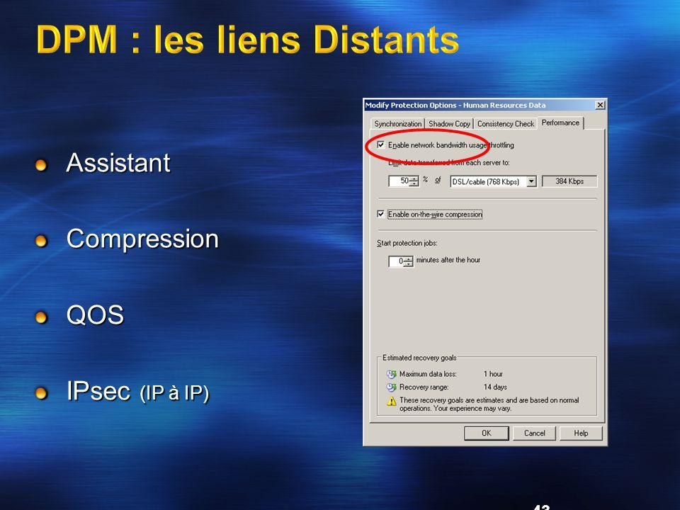 43 AssistantCompressionQOS IPsec (IP à IP)