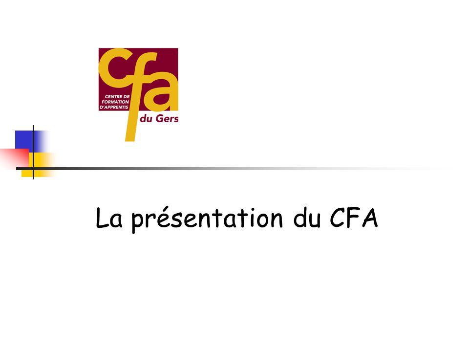 La présentation du CFA