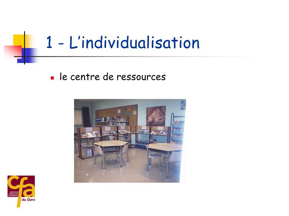  1 - L'individualisation de la formation  le parcours de l'apprenti  la professionnalisation des formateurs  2 - Le renforcement des relations ave