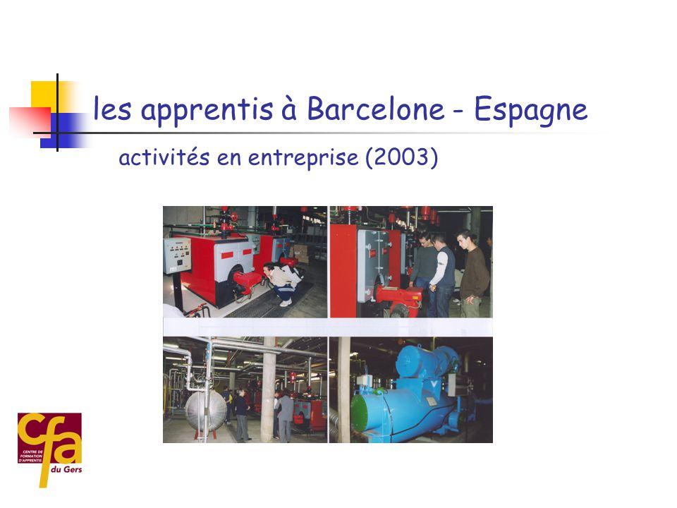  5 - L'ouverture au monde extérieur  les sorties pédagogiques  les échanges d'apprentis Les axes de travail