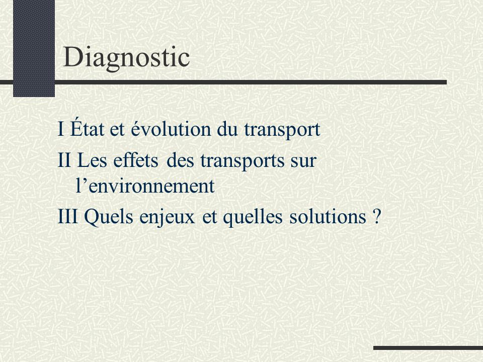 Conclusion Transport et environnement, des problématiques à penser à une échelle mondiale Sobriété en transport et en énergie = une nécessité