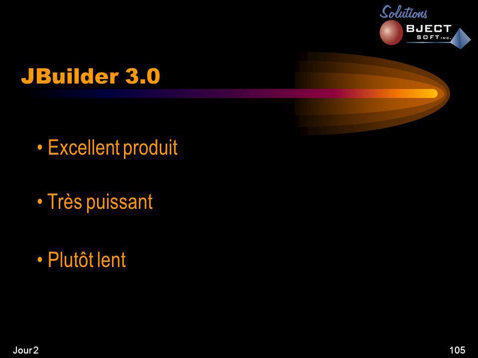 Jour 2105 JBuilder 3.0 • Excellent produit • Très puissant • Plutôt lent
