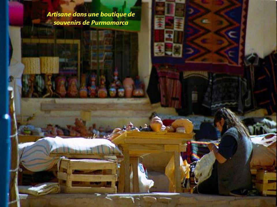 Petit village de Purmamarca au pied des Andes