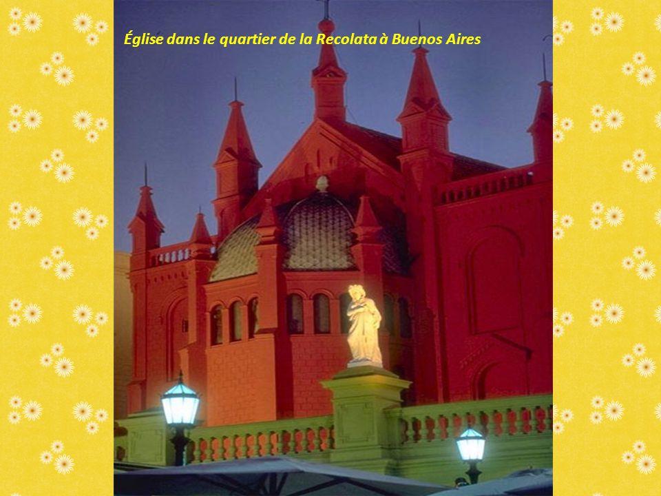 Église dans le quartier de la Recolata à Buenos Aires