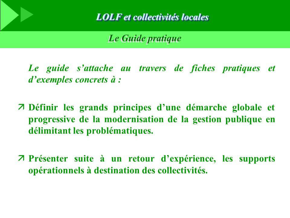 Le Guide pratique Le guide s'attache au travers de fiches pratiques et d'exemples concrets à : äDéfinir les grands principes d'une démarche globale et