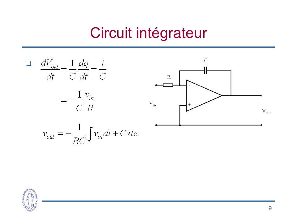 9 Circuit intégrateur 