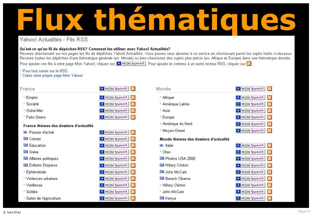 Page 13 © Jean Elias Flux thématiques