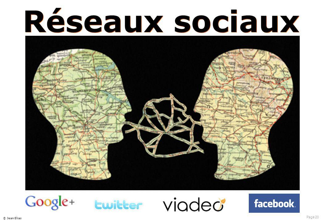 Page 20 © Jean Elias Réseaux sociaux