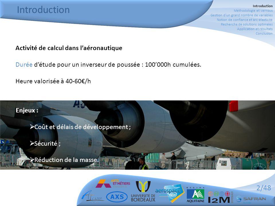 2/48 Introduction Activité de calcul dans l'aéronautique Durée d'étude pour un inverseur de poussée : 100'000h cumulées.