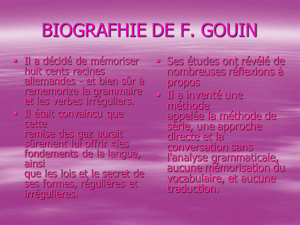 BIOGRAFHIE DE F.