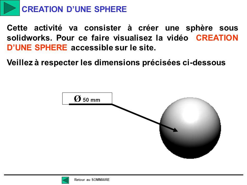 Cette activité va consister à créer un tronc de cône sous solidworks. Pour ce faire visualisez la vidéo CREATION D'UN TRONC DE CONE accessible sur le