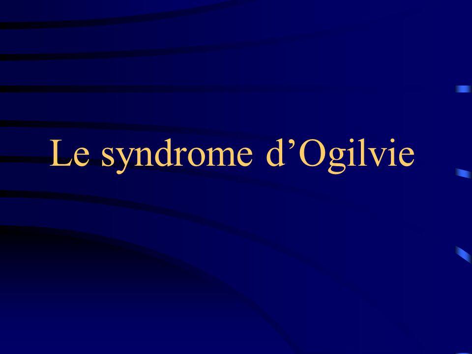 Le syndrome d'Ogilvie