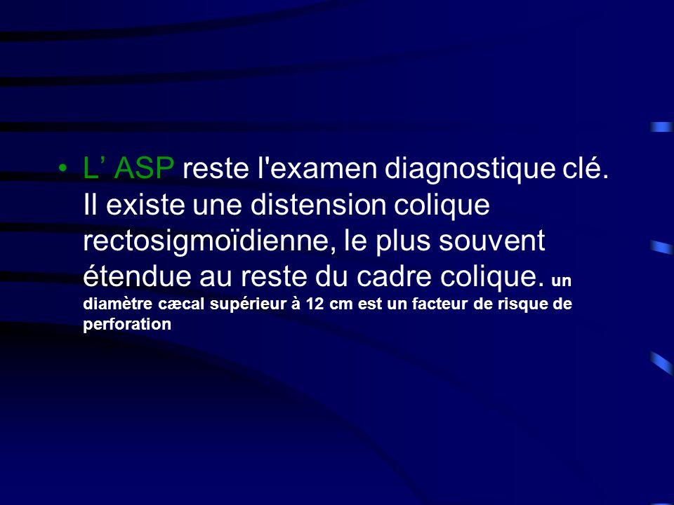 •L' ASP reste l examen diagnostique clé.