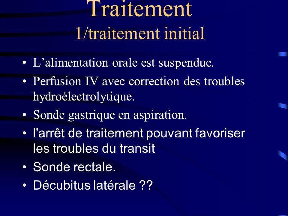 Traitement 1/traitement initial •L'alimentation orale est suspendue.