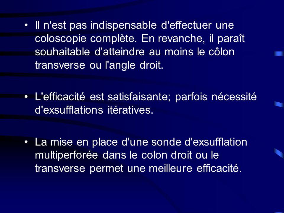 •Il n est pas indispensable d effectuer une coloscopie complète.