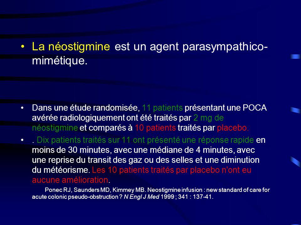 •La néostigmine est un agent parasympathico- mimétique.
