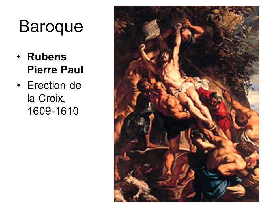 Baroque •Rubens Pierre Paul •Erection de la Croix, 1609-1610