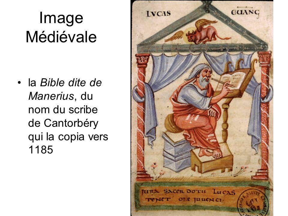 Image Médiévale •la Bible dite de Manerius, du nom du scribe de Cantorbéry qui la copia vers 1185