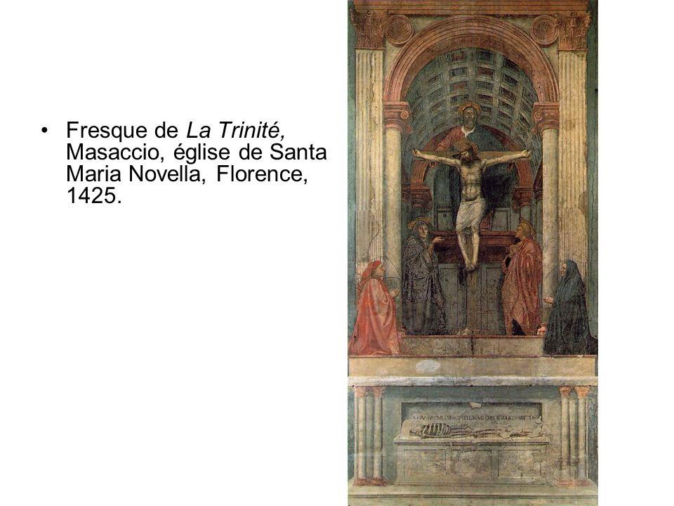 •Fresque de La Trinité, Masaccio, église de Santa Maria Novella, Florence, 1425.