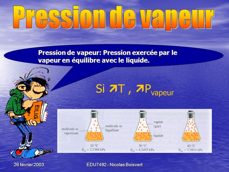 26 février 2003EDU7492 - Nicolas Boisvert M'enfin!!!! Pourquoi? • Mettre du sel dans l'eau des pâtes? • Mettre du calcium sur les routes? Peut-on? • N